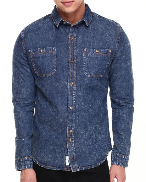 Bellfield Light Wash Button-Downs