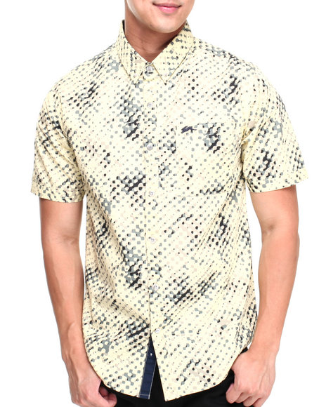 A Tiziano Yellow Gilbert S/S Button-Down