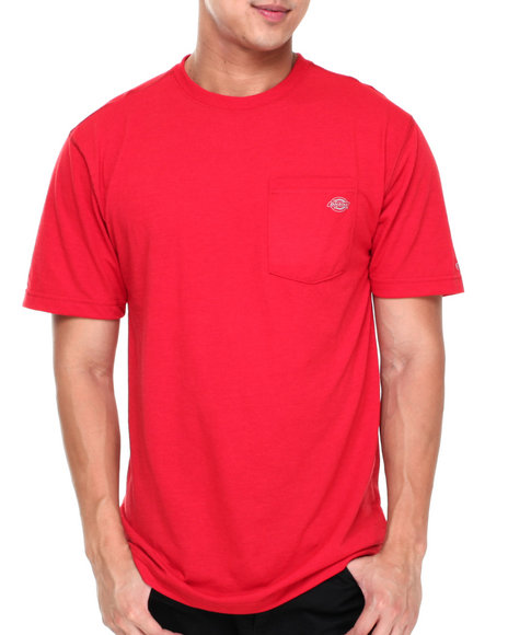 Dickies - Men Red Short Sleeve Drirelease Performance T-Shirt - $12.99