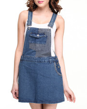 Jumpsuits - Denim Overall Jumper w/ Embossed Denim Details