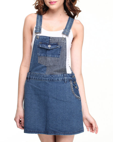 Bellfield - Denim Overall Jumper w/ Embossed Denim Details