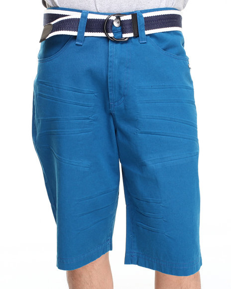 A Tiziano Blue Victor Belted Chino Short
