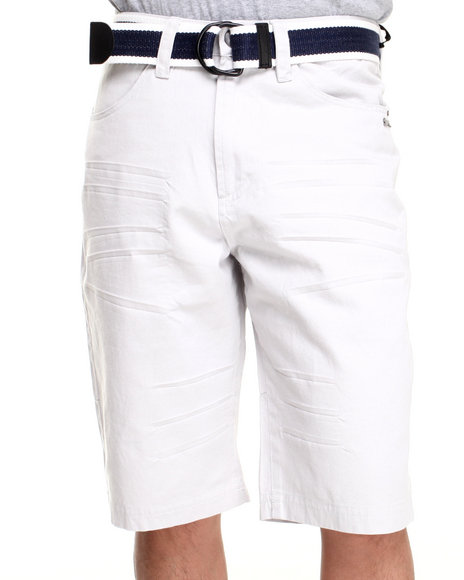 A Tiziano Grey Victor Belted Chino Short