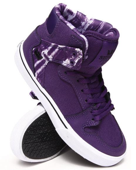 Supra Boys Purple Vaider Sneakers (11-6)