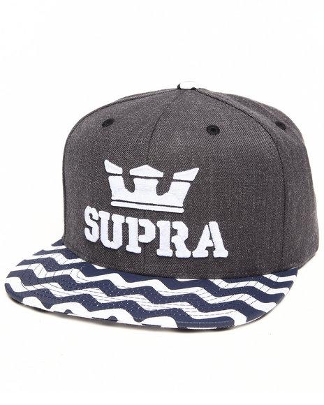 Supra Above Starter Snapback Cap Grey