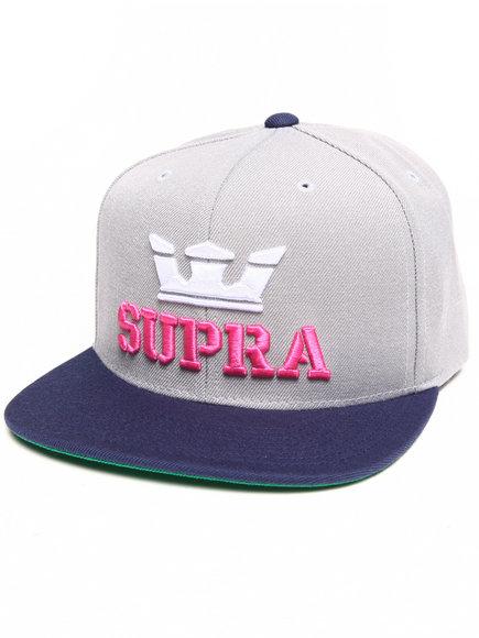 Supra Above Starter Snapback Cap Silver