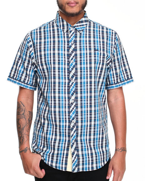 A Tiziano Blue Pierre S/S Button-Down