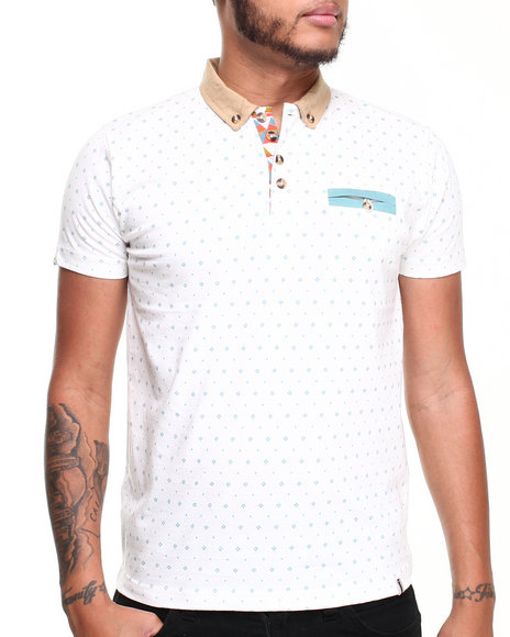 Bellfield - Men Cream Ethan Jersey Polo