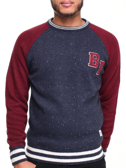 Bellfield - Men Navy Saranda Crew Sweatshirt