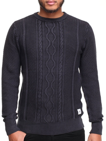 Bellfield - Men Charcoal Tucuma Crew Sweatshirt