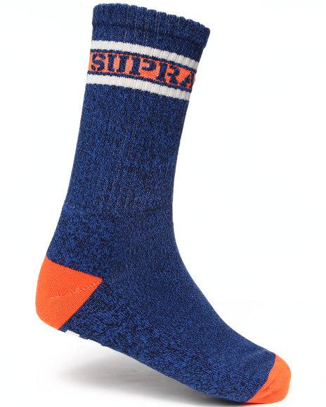 Supra Men Mark Crew Socks Blue