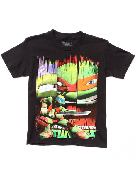Arcade Styles - Boys Black Turtle Time Tee (8-20)
