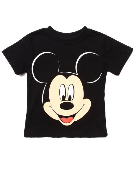 Arcade Styles - Boys Black Mickey Mouse Tee (2T-4T)