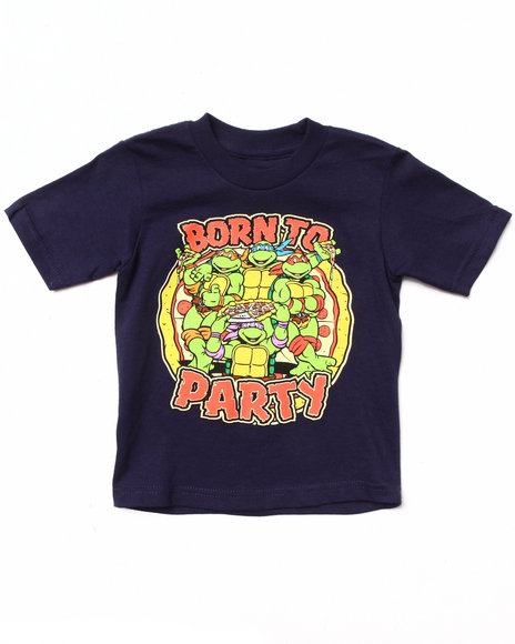 Arcade Styles - Boys Navy Born To Party Tee (2T-4T)