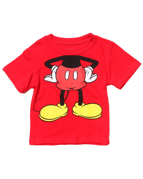 Arcade Styles Boys Red Mickey Body Tee (2T-4T)