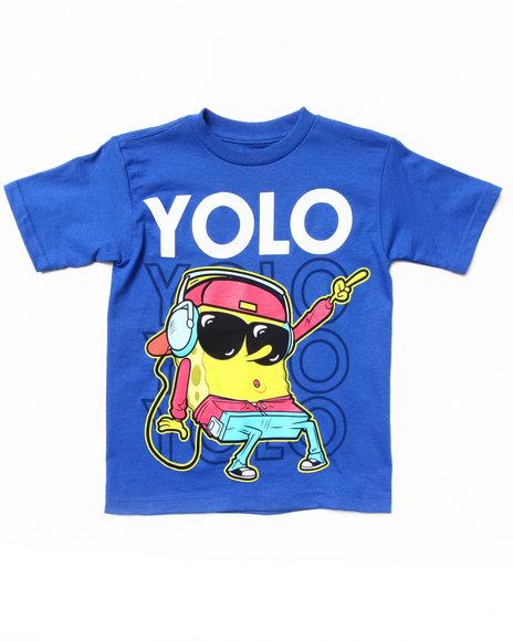 Arcade Styles - Boys Blue Spongebob Yolo Tee (4-7)