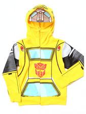 Hoodies - Transformers Bumblebee Mesh Mask Hoodie (4-7)