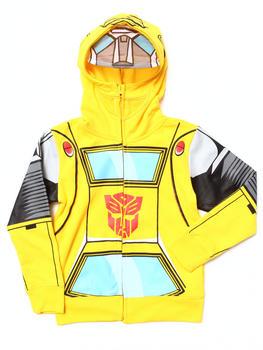 Arcade Styles - Transformers Bumblebee Mesh Mask Hoodie (4-7)