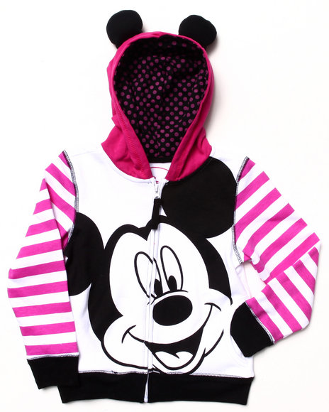 La Galleria - Girls White Minnie Mouse Hoody (4-6X)