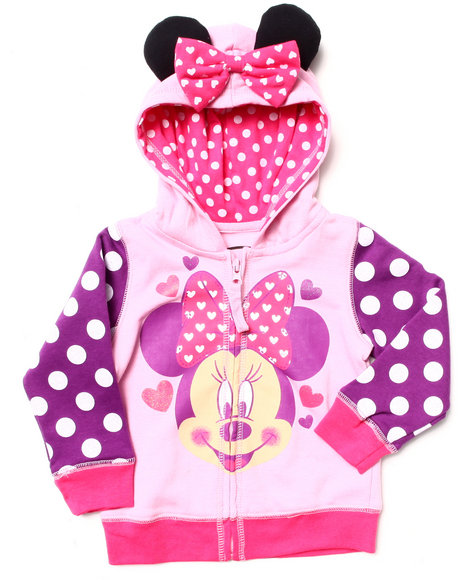 La Galleria Girls Pink Minnie Hoody (2T-4T)