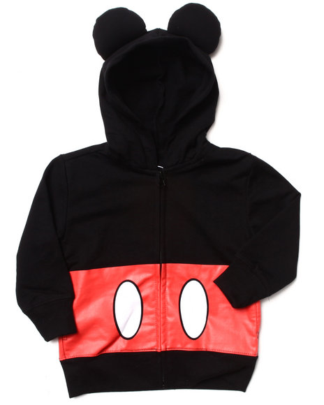 La Galleria - Girls Black Mickey Mouse Hoody (2T-4T)