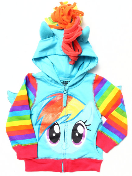 La Galleria Girls Blue My Little Pony Rainbow Dash Hoody (2T-4T)