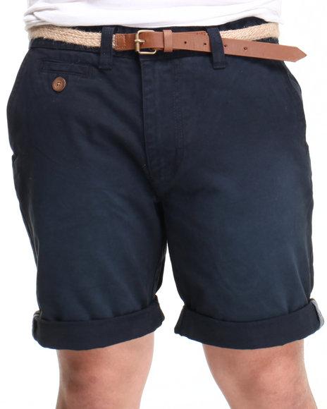 Bellfield - Men Navy Basic Chino Short - $22.99