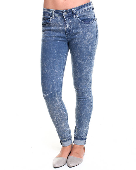 Bellfield - Women Blue Acid Wash High Waisted Skinny Jeans - $26.99