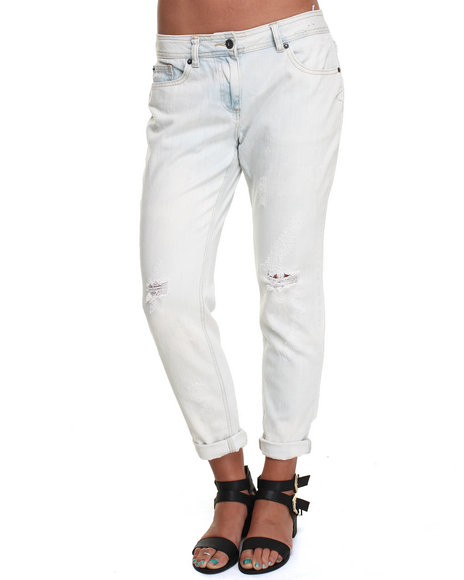 Bellfield - Bleached Acid Washed Ripped Boyfriend Jean