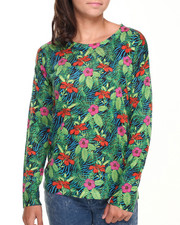 Women - Tropical & Animal Print Sweater