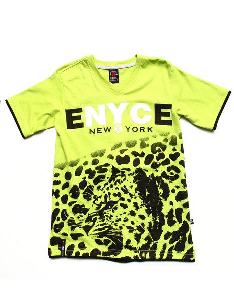 Enyce Boys Lime Green Leopard Print Tee (8-20)