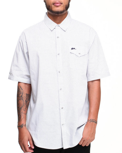 A Tiziano White Martin S/S Button-Down