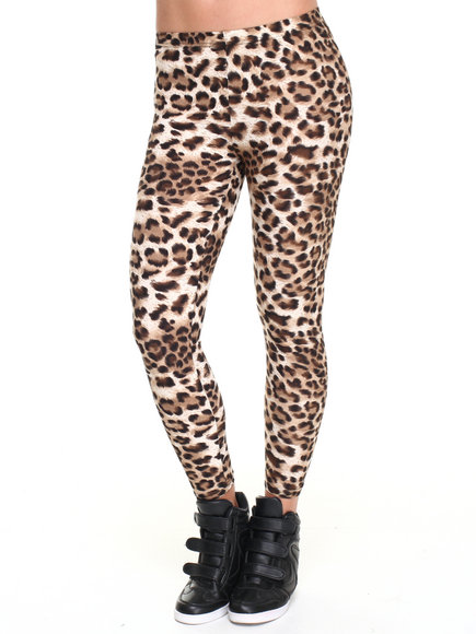 Leggsington - Women Animal Print Thea Small Leopard Print Leggings