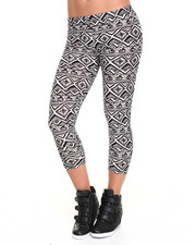 Leggings - Kayla Large Tribal Print Legging