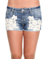 Almost Famous - Crochet Trim Short