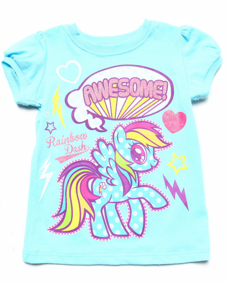 La Galleria Girls Blue Rainbow Dash Pony Tee (2T-4T)
