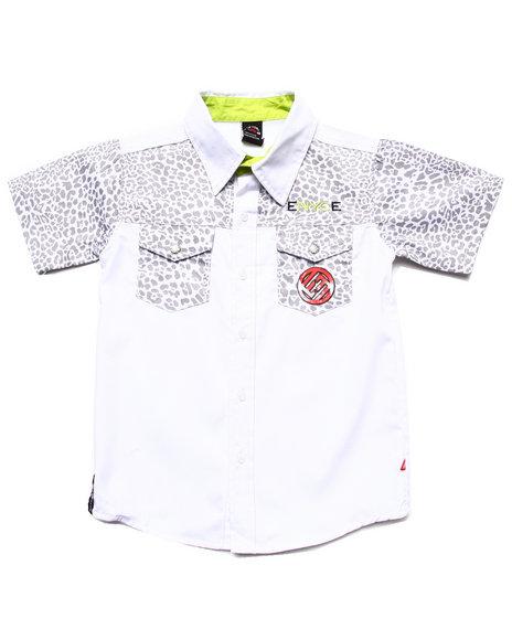 Enyce Boys White Leopard Woven Shirt (8-20)
