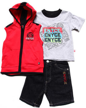 Enyce - 3 PC SET - HOODED VEST, TEE, & SHORTS (2T-4T)