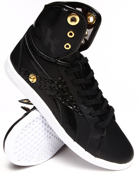 Reebok Black Top Down Snaps Sneakers
