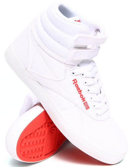 Reebok - Women White Freestyle Hi Intl Fvs Textile Sneakers