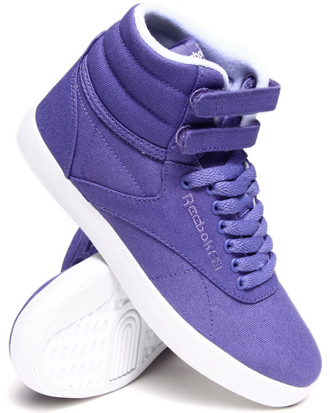 Reebok Purple Freestyle Hi Intl Fvs Textile Sneakers