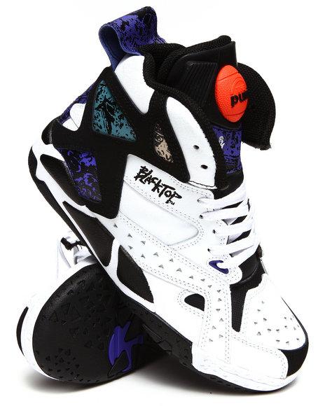 Reebok Boys Black,White Blacktop Battleground Sneakers (Gs)