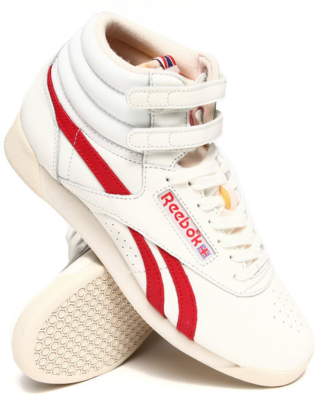 Reebok - Women White Freestyle Hi Vintage Inspired Sneakers