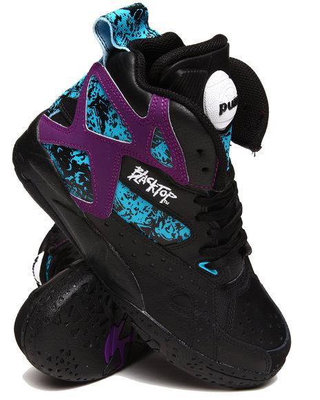 Reebok Boys Black Blacktop Battleground Sneakers (Gs)