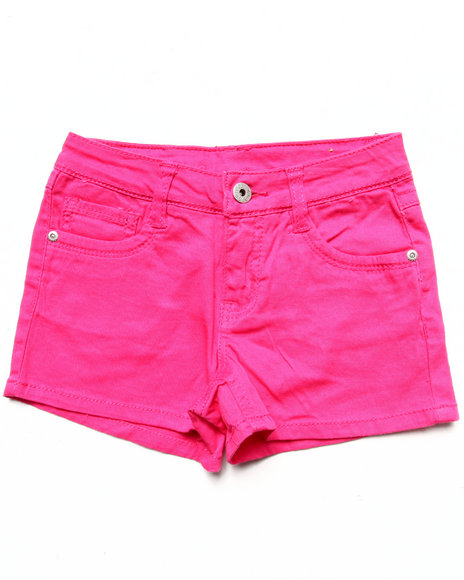 La Galleria Girls Pink Basic Twill Shorts (7-16)