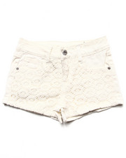 Bottoms - Twill Shorts w/ Lace Overlay (7-16)