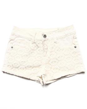 La Galleria - Twill Shorts w/ Lace Overlay (7-16)