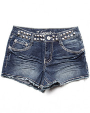 La Galleria - Studded Waist Fray Hem Short (7-16)