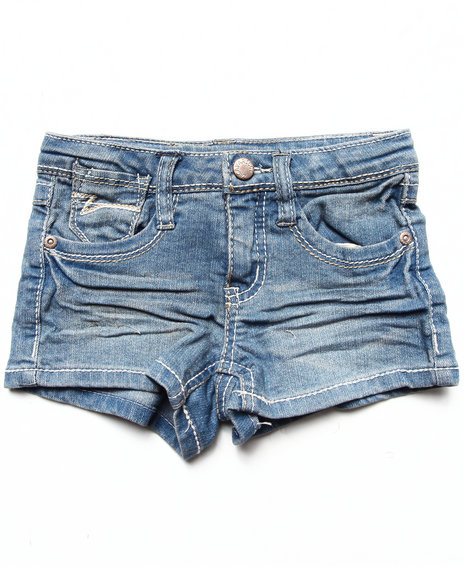 La Galleria Girls Medium Wash Laguna Denim Shorts (4-6X)