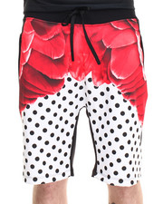 Men - RED FEATHERS SHORTS